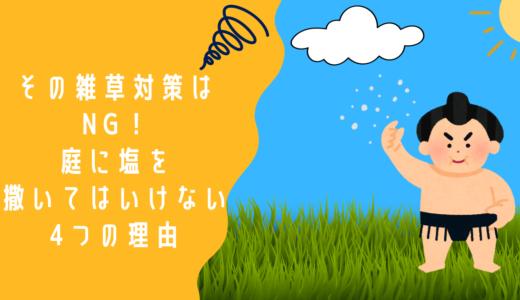 【その雑草対策はNG】庭に塩を撒いてはいけない4つの理由。